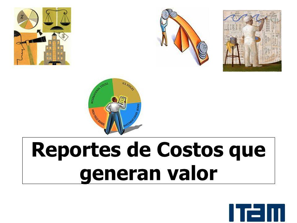 Reportes de Costos que generan valor