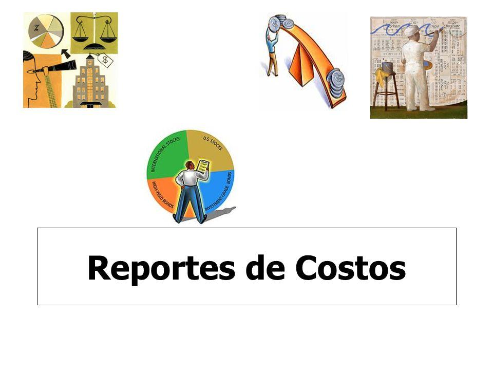 Reportes de Costos
