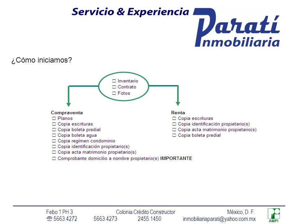 ¿Cómo iniciamos.Febo 1 PH 3 Colonia Crédito Constructor México, D.