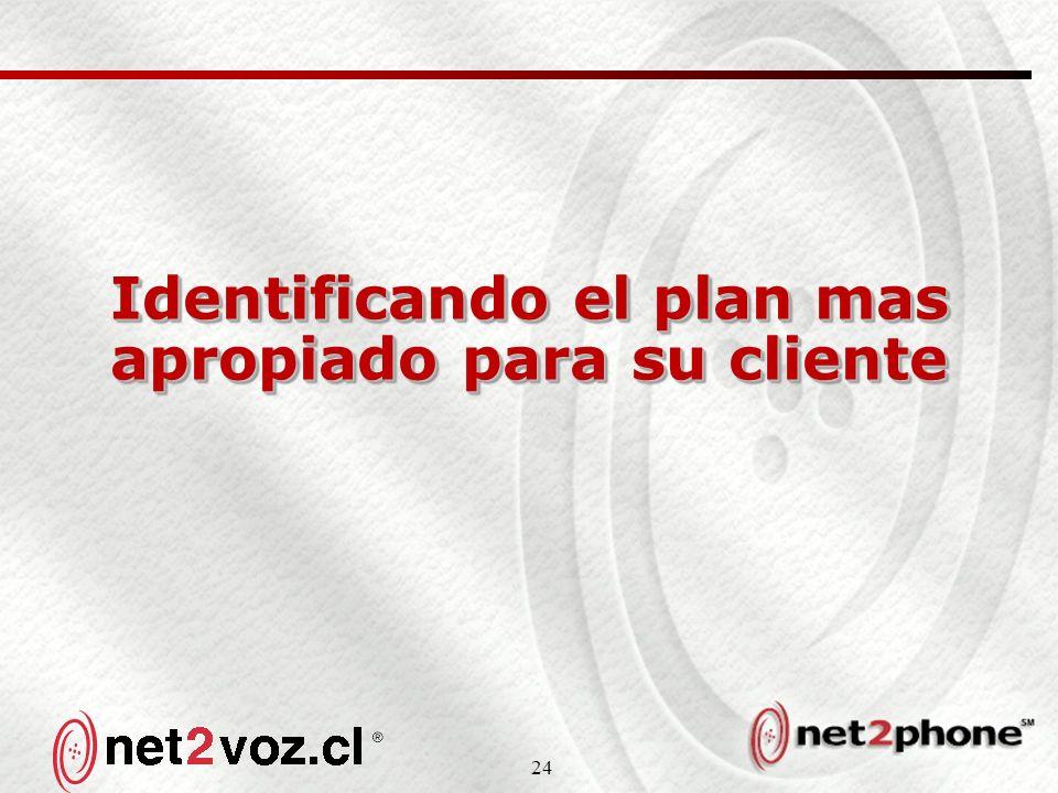 24 Identificando el plan mas apropiado para su cliente