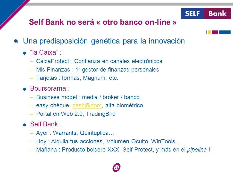 28 Una predisposición genética para la innovación la Caixa : – CaixaProtect : Confianza en canales electrónicos – Mis Finanzas : 1r gestor de finanzas