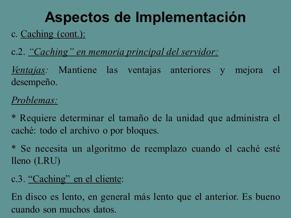 c. Caching (cont.): c.2.