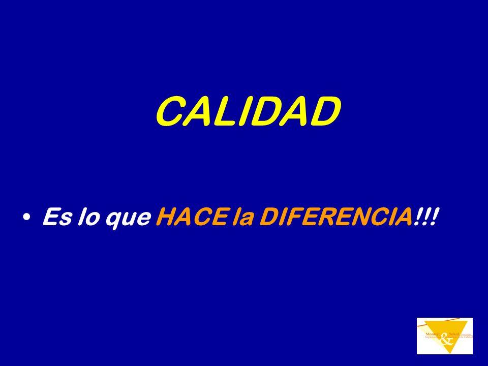 CALIDAD Es lo que HACE la DIFERENCIA!!!