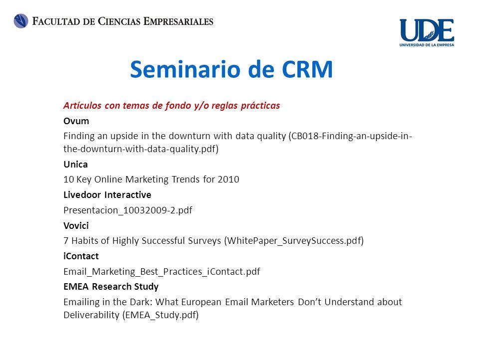 Seminario de CRM Artículos con temas de fondo y/o reglas prácticas Ovum Finding an upside in the downturn with data quality (CB018-Finding-an-upside-i