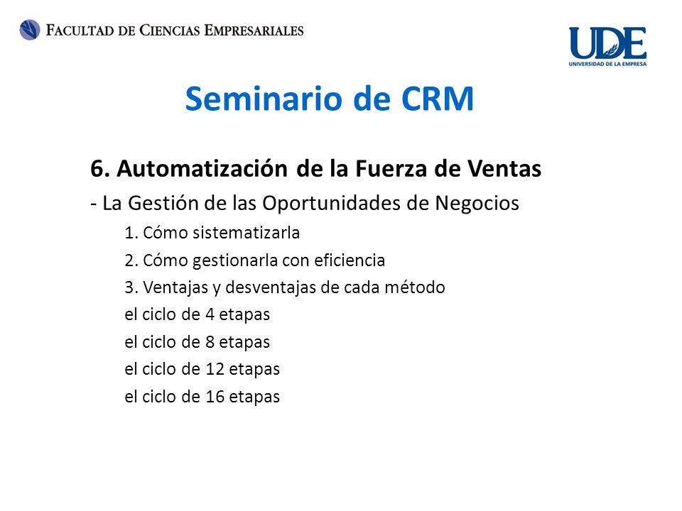 Seminario de CRM 6.