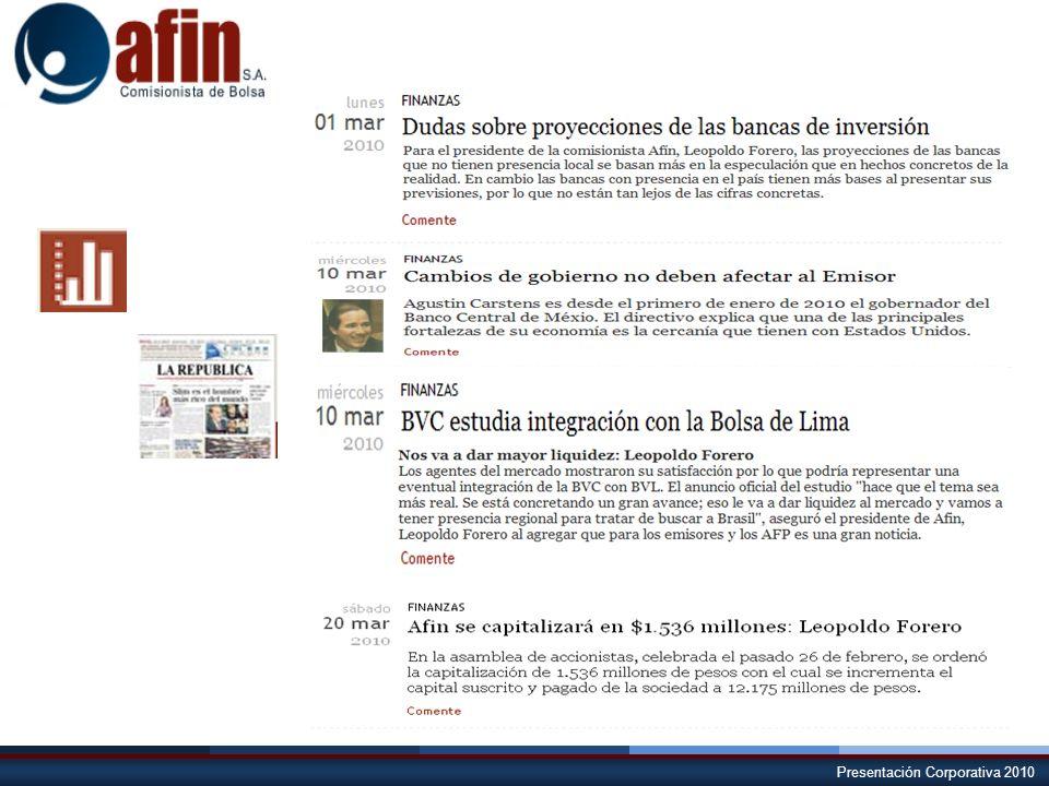 Presentación Corporativa 2010