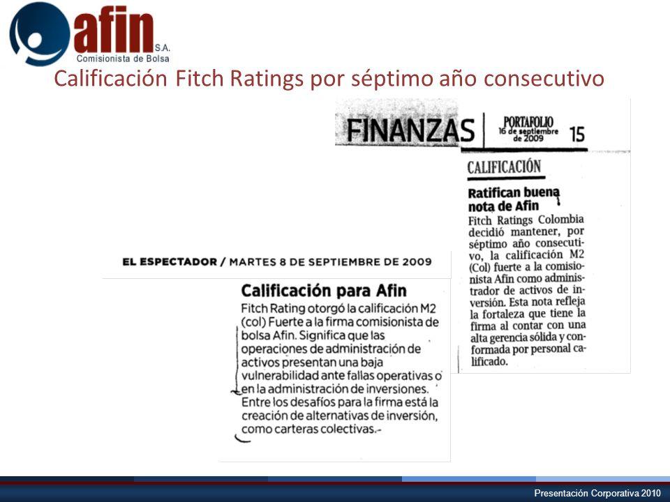 Presentación Corporativa 2010 Calificación Fitch Ratings por séptimo año consecutivo