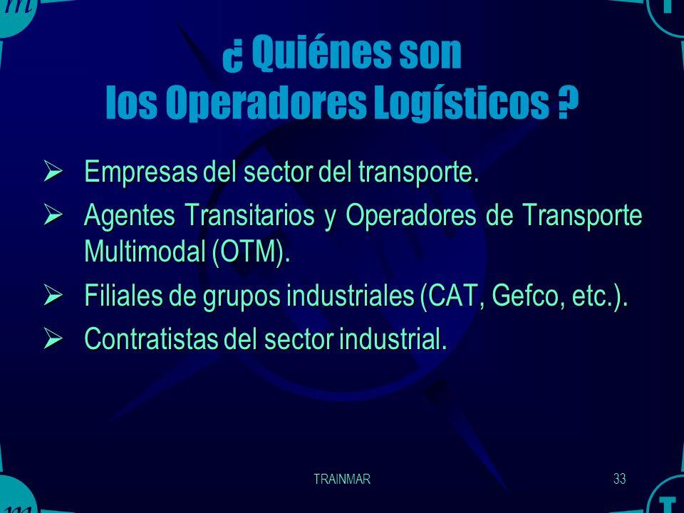Aparición de Operadores Logísticos (3PL - LPS) Los Operadores Logísticos aparecen en la logística de aprovisionamiento (sobre todo, en caso de flujos
