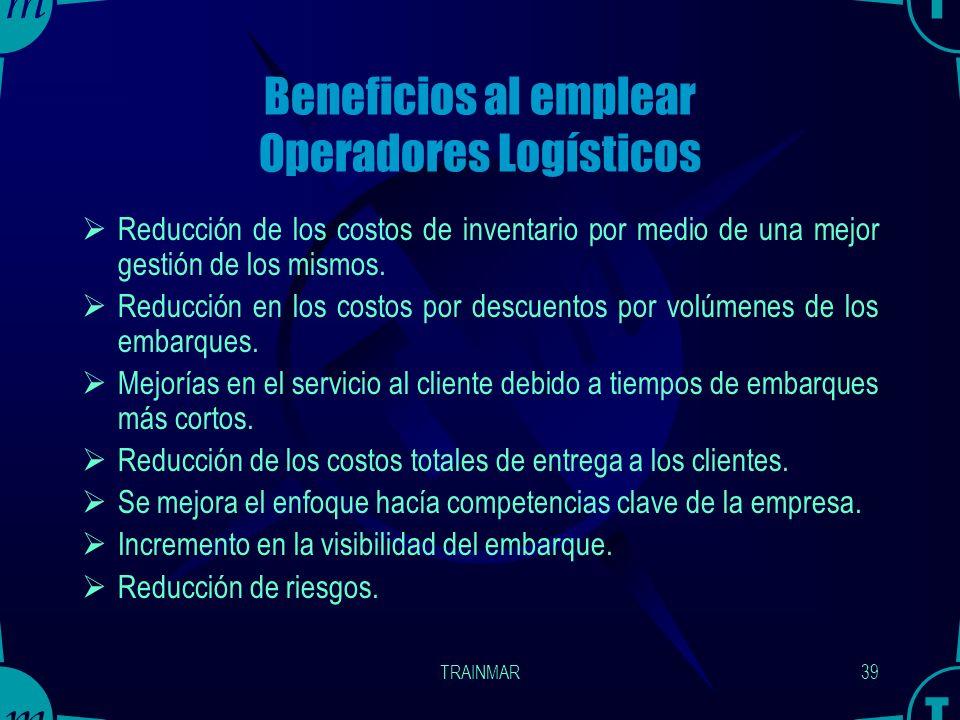 TRAINMAR38 Criterios de selección de los operadores logísticos