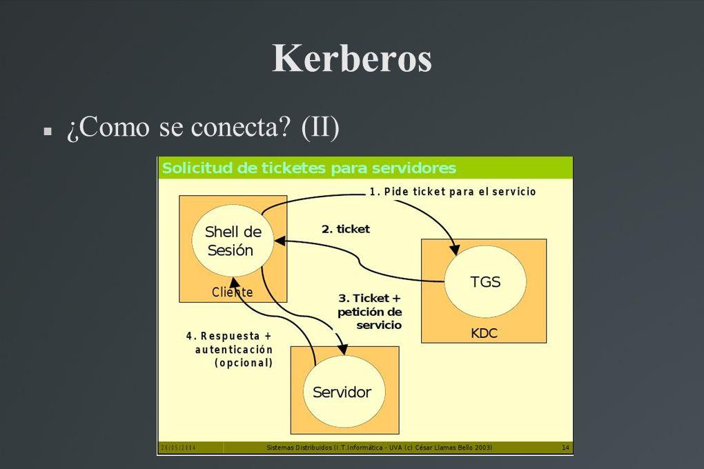 Kerberos ¿Como se conecta? (II)