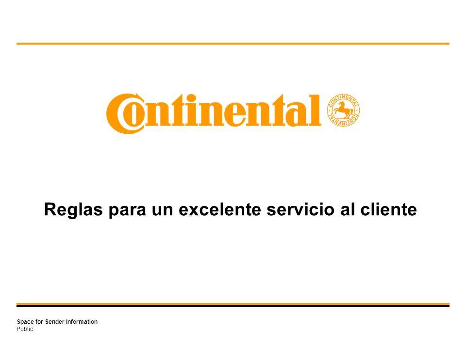 Public Space for Sender Information Reglas para un excelente servicio al cliente