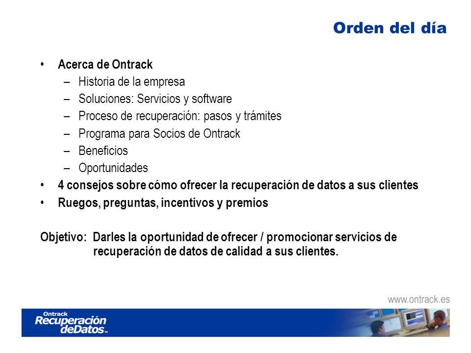Programa para socios- Resumen 2 maneras de tramitar las necesidades de recuperación de sus clientes Remisión: Simplemente remita su cliente a Ontrack con sus necesidades de recuperación de datos.