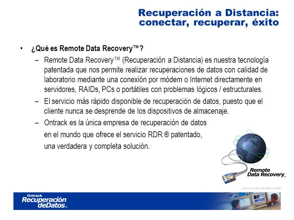 Recuperación a Distancia: conectar, recuperar, éxito ¿Qué es Remote Data Recovery.