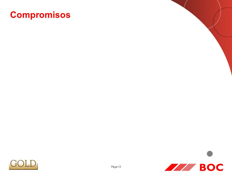 Page 13 Compromisos