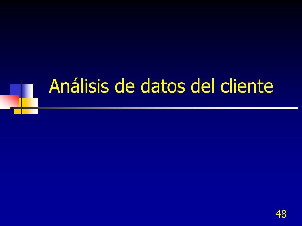 48 Análisis de datos del cliente