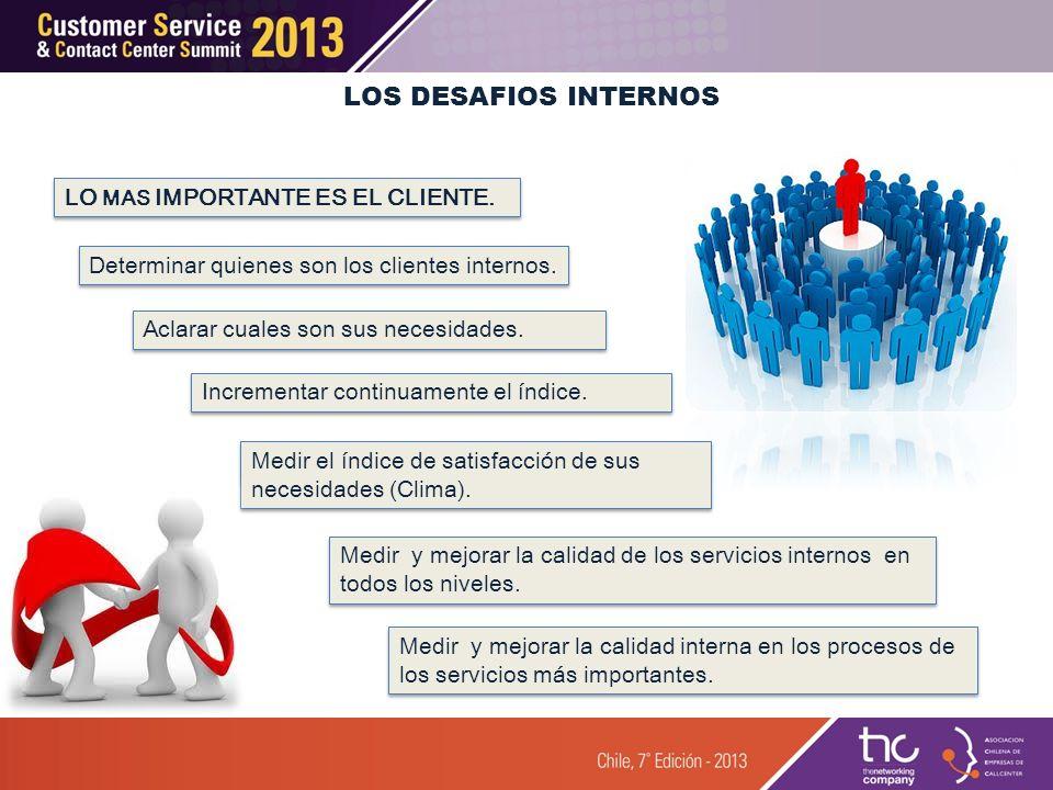 Determinar quienes son los clientes internos. Medir y mejorar la calidad interna en los procesos de los servicios más importantes. Aclarar cuales son