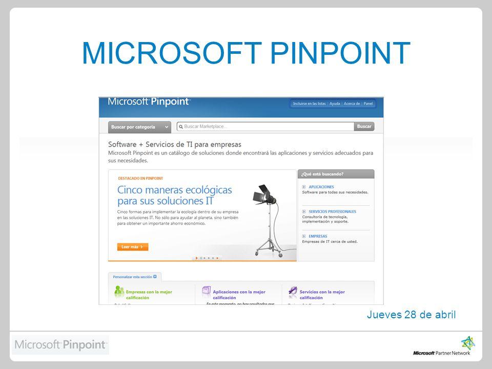 MICROSOFT PINPOINT Jueves 28 de abril