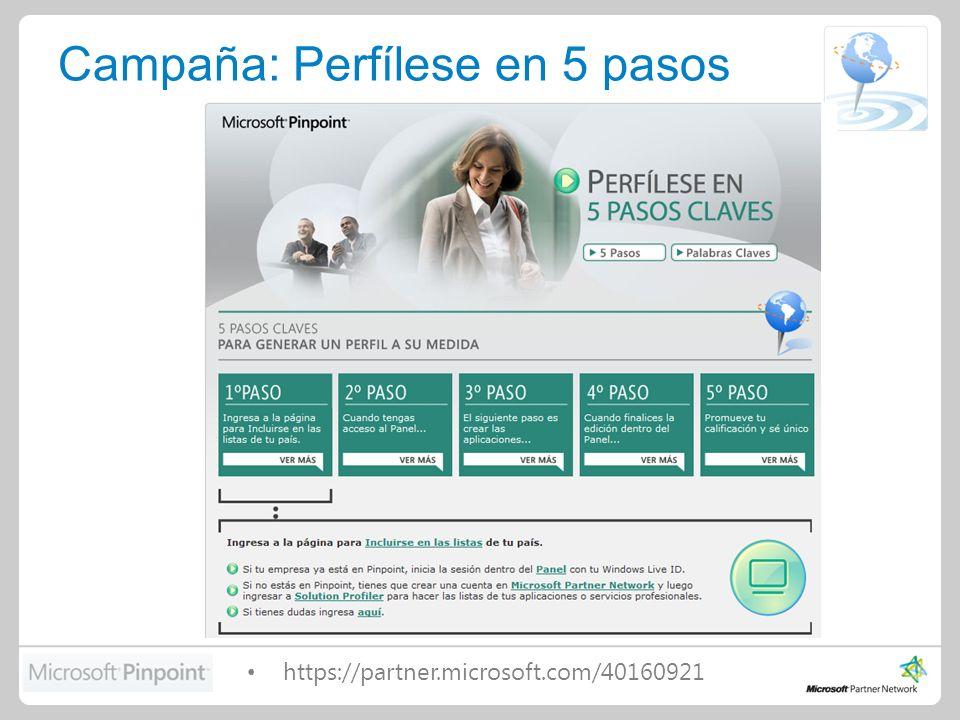 Campaña: Perfílese en 5 pasos https://partner.microsoft.com/40160921