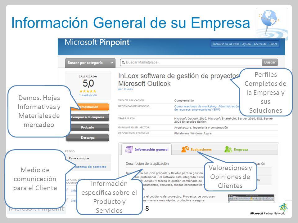Sus siguientes pasos 1.Revise los lineamientos del Perfil e ingrese la información de su compañía, sus productos y servicios en las herramientas adecuadas.