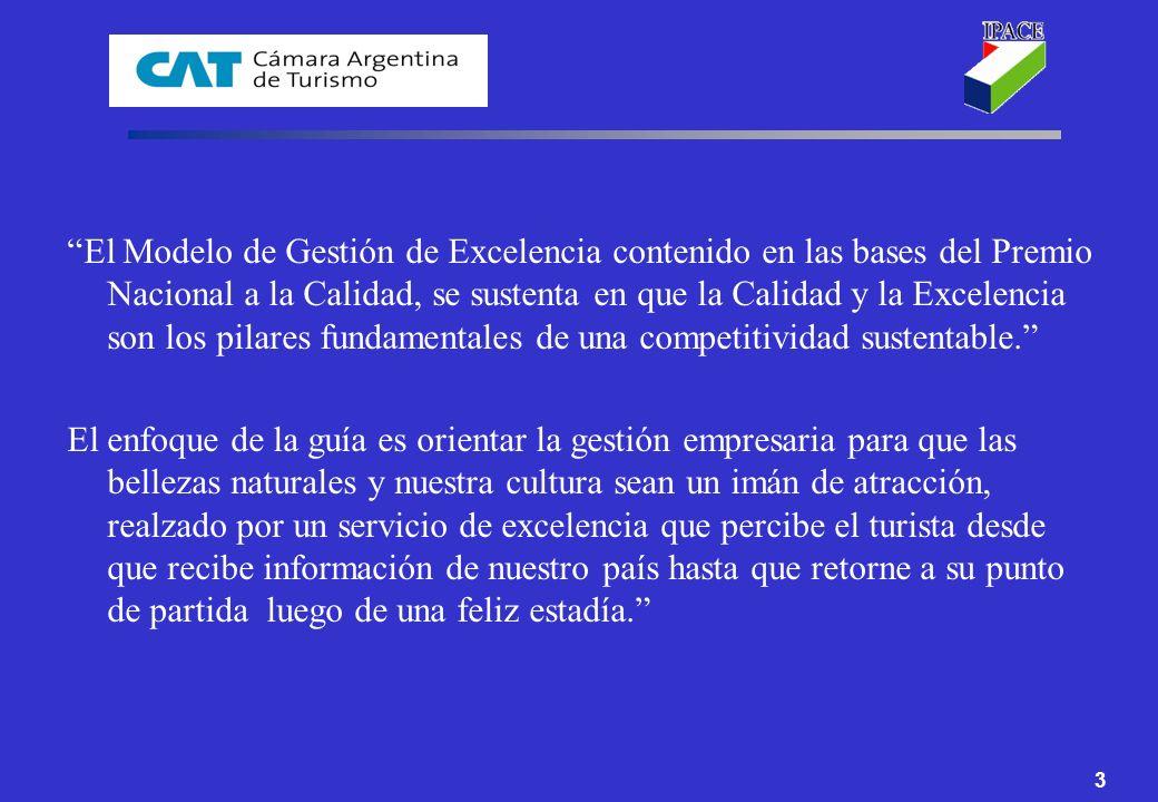 34 GUIA PARA LA EVALUACIÓN DE LA CALIDAD DE GESTION EN LAS EMPRESAS DEL SECTOR TURISMO HERRAMIENTA PARA LA AUTOEVALUACION
