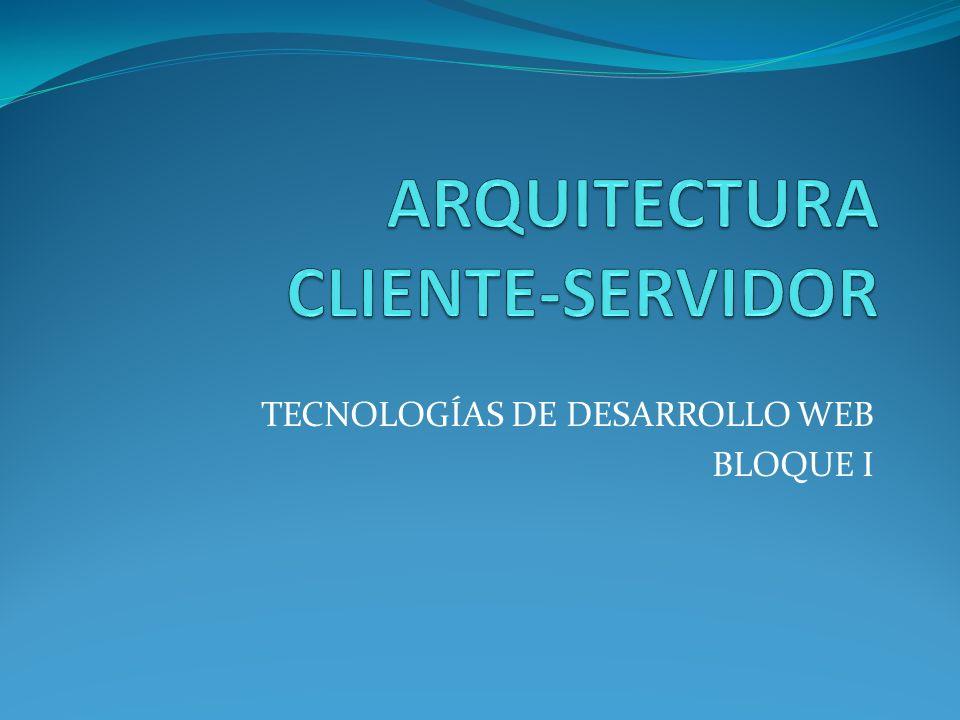 TECNOLOGÍAS DE DESARROLLO WEB BLOQUE I