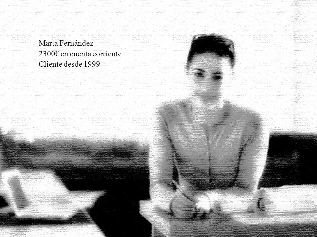 27 Marta Fernández 2300 en cuenta corriente Cliente desde 1999