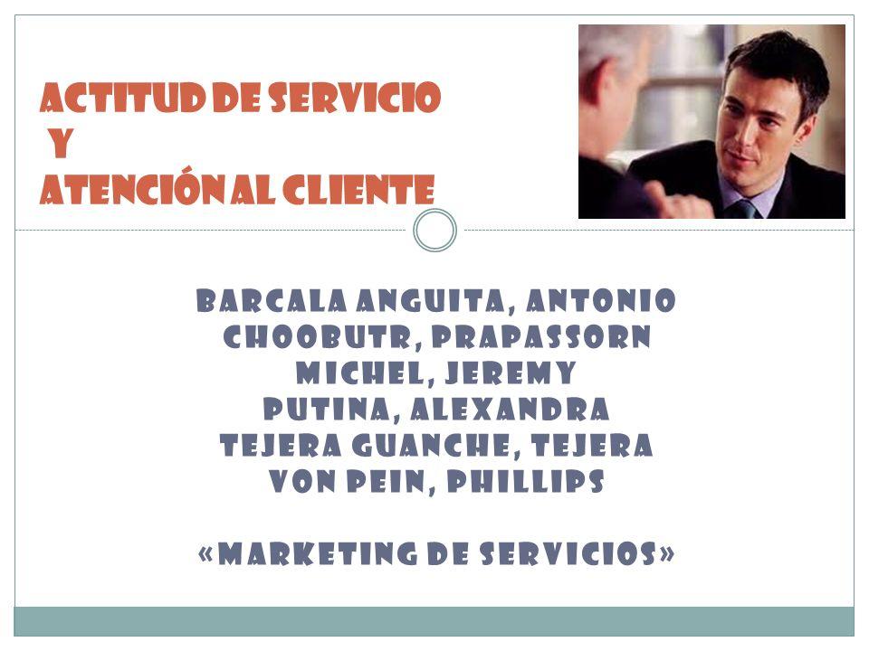 BARCALA ANGUITA, ANTONIO CHOOBUTR, PRAPASSORN MICHEL, JEREMY PUTINA, ALEXANDRA TEJERA GUANCHE, TEJERA VON PEIN, PHILLIPS «MARKETING DE SERVICIOS» ACTI