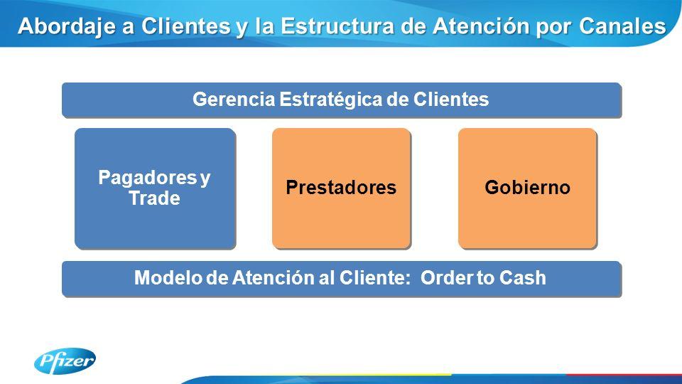 Gerencia Estratégica de Clientes Modelo de Atención al Cliente: Order to Cash Pagadores y Trade Abordaje a Clientes y la Estructura de Atención por Canales Prestadores Gobierno