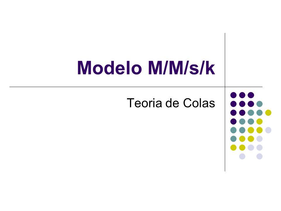 Teoría modelo M/M/s/k