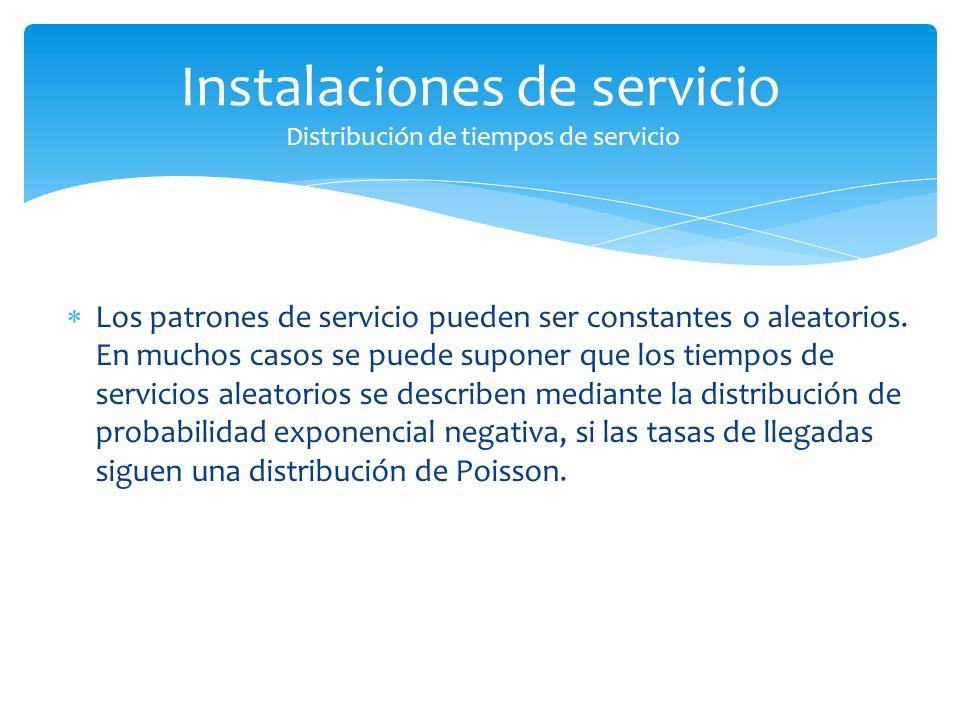Los patrones de servicio pueden ser constantes o aleatorios.