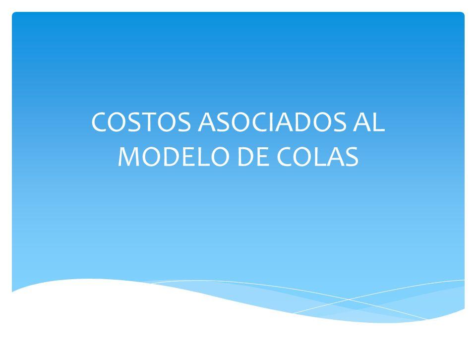 COSTOS ASOCIADOS AL MODELO DE COLAS