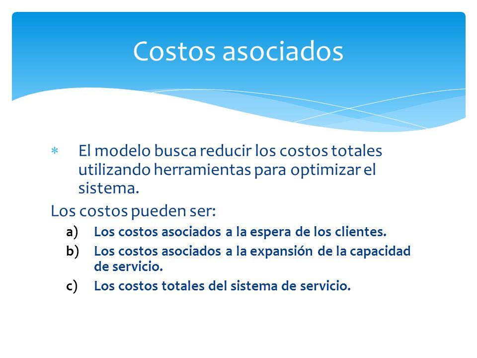 El modelo busca reducir los costos totales utilizando herramientas para optimizar el sistema.