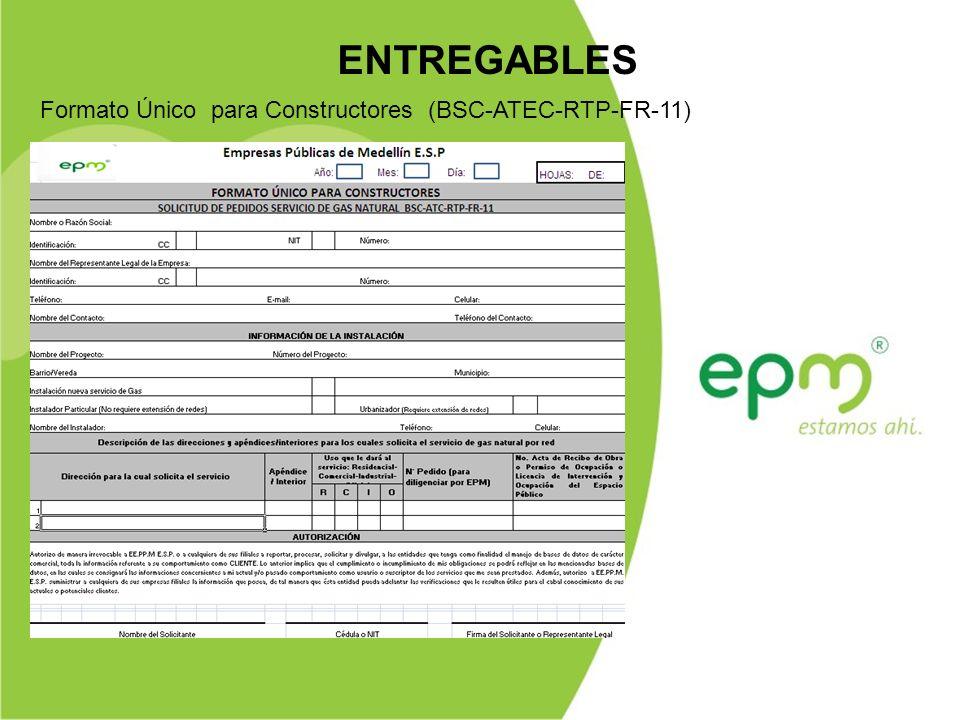 ENTREGABLES Formato Único para Constructores (BSC-ATEC-RTP-FR-11)