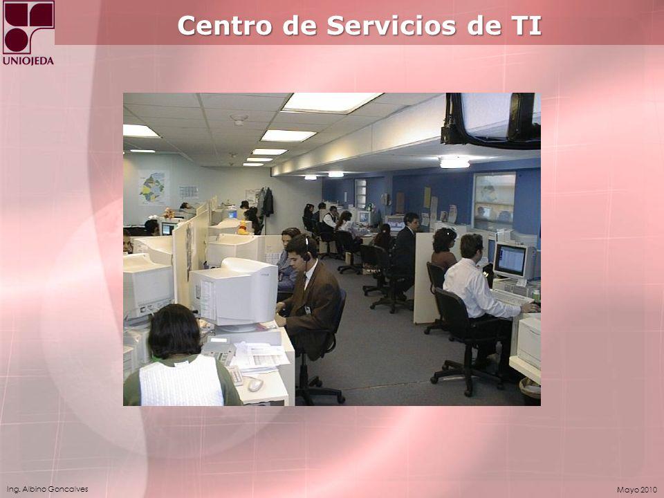 Ing. Albino Goncalves Mayo 2010 Centro de Servicios de TI