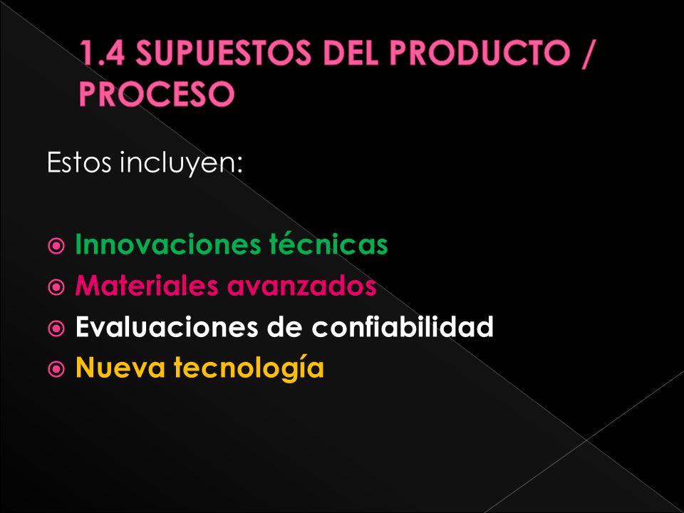 Estos incluyen: Innovaciones técnicas Materiales avanzados Evaluaciones de confiabilidad Nueva tecnología