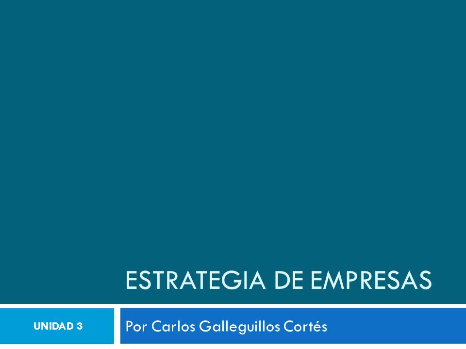 ESTRATEGIA DE EMPRESAS Por Carlos Galleguillos Cortés UNIDAD 3