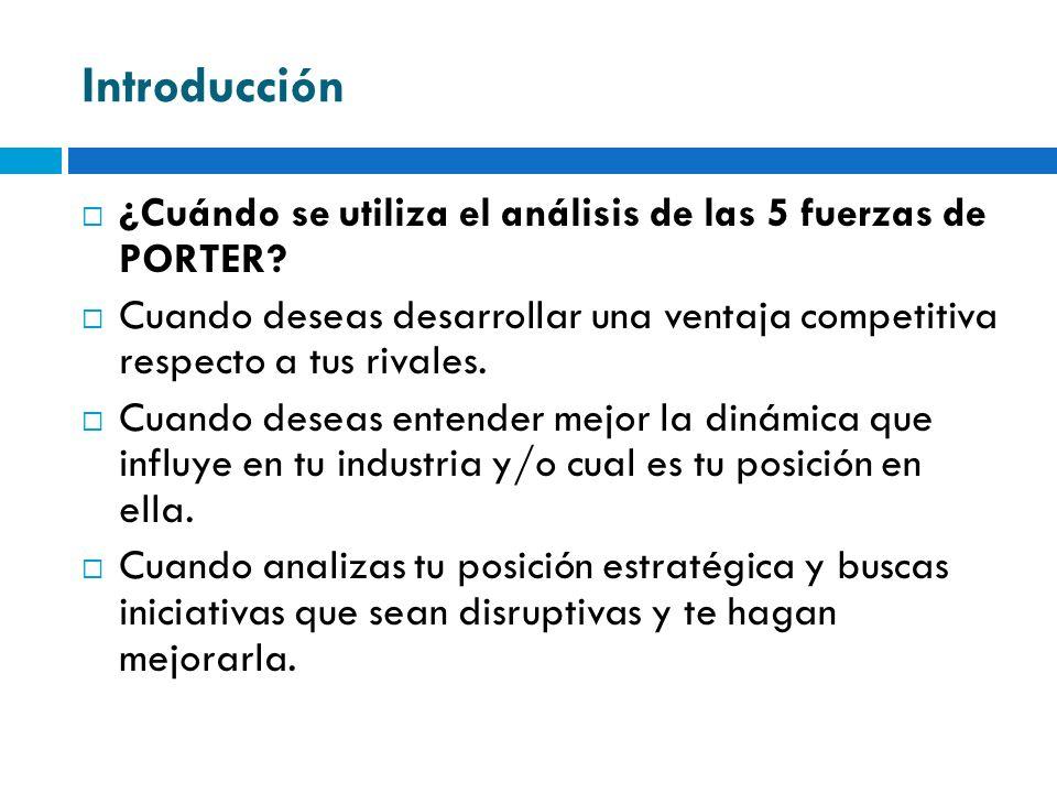 Análisis Industrial Modelo de las 5 fuerzas de M.
