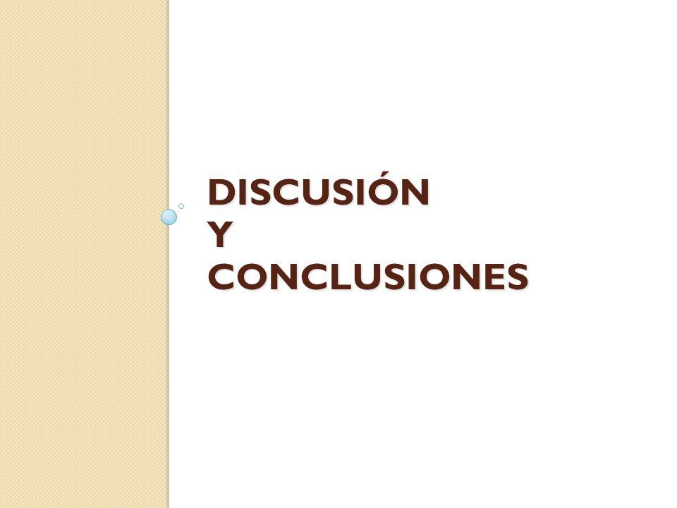 DISCUSIÓN Y CONCLUSIONES
