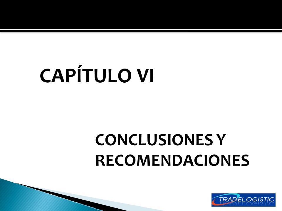 CAPÍTULO VI CONCLUSIONES Y RECOMENDACIONES