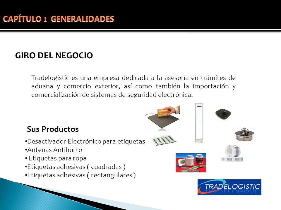 GIRO DEL NEGOCIO Tradelogistic es una empresa dedicada a la asesoría en trámites de aduana y comercio exterior, así como también la importación y come