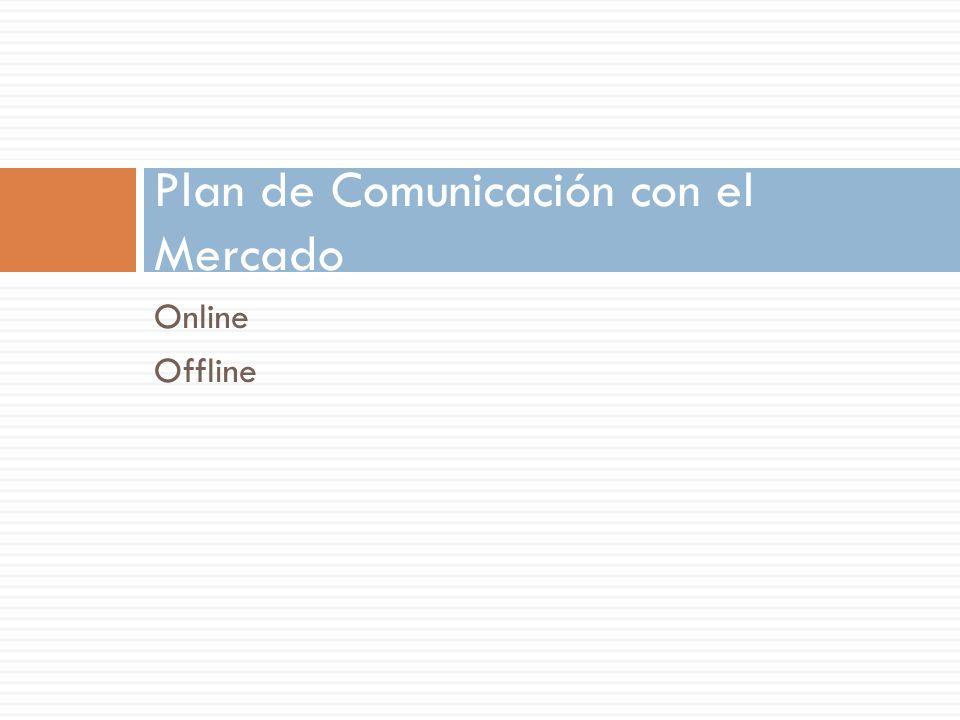 Online Offline Plan de Comunicación con el Mercado