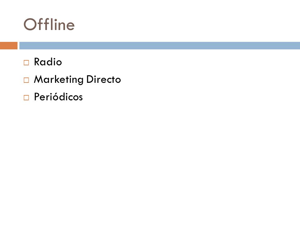 Offline Radio Marketing Directo Periódicos