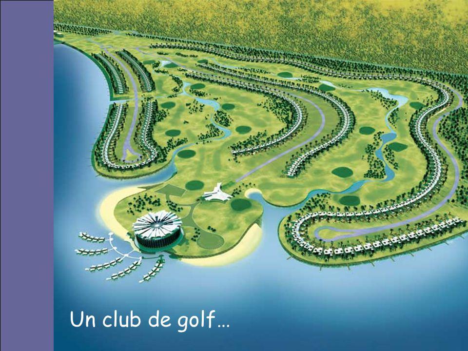 Un club de golf…