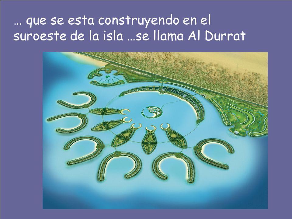… que se esta construyendo en el suroeste de la isla …se llama Al Durrat