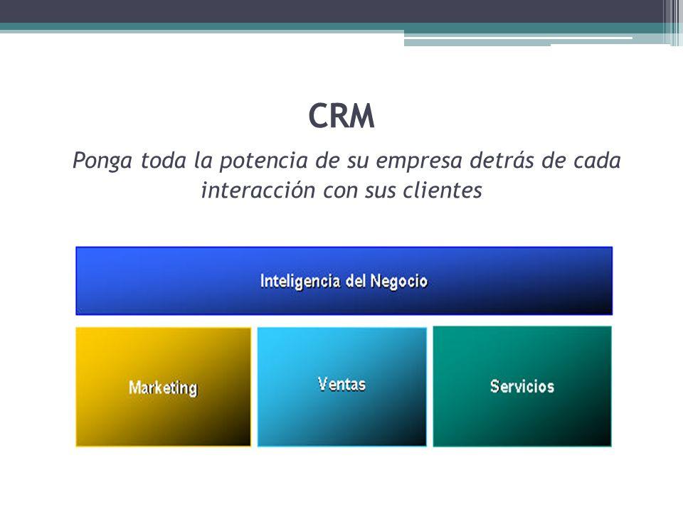 CRM Ponga toda la potencia de su empresa detrás de cada interacción con sus clientes