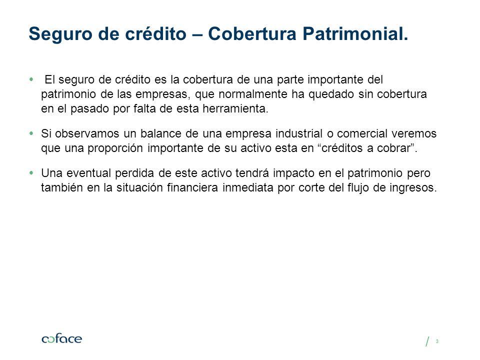 / 33 Seguro de crédito – Cobertura Patrimonial. El seguro de crédito es la cobertura de una parte importante del patrimonio de las empresas, que norma