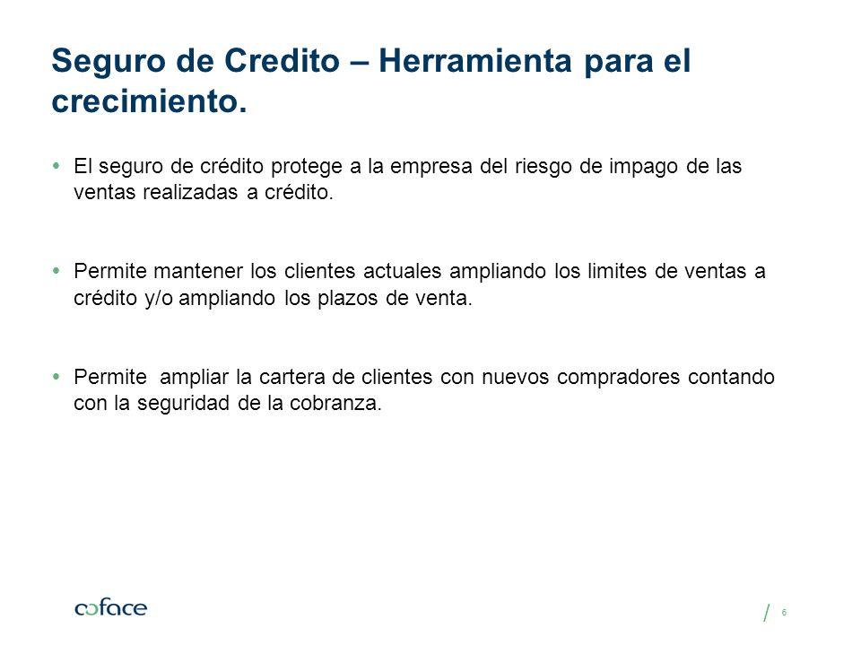/ 66 Seguro de Credito – Herramienta para el crecimiento. El seguro de crédito protege a la empresa del riesgo de impago de las ventas realizadas a cr
