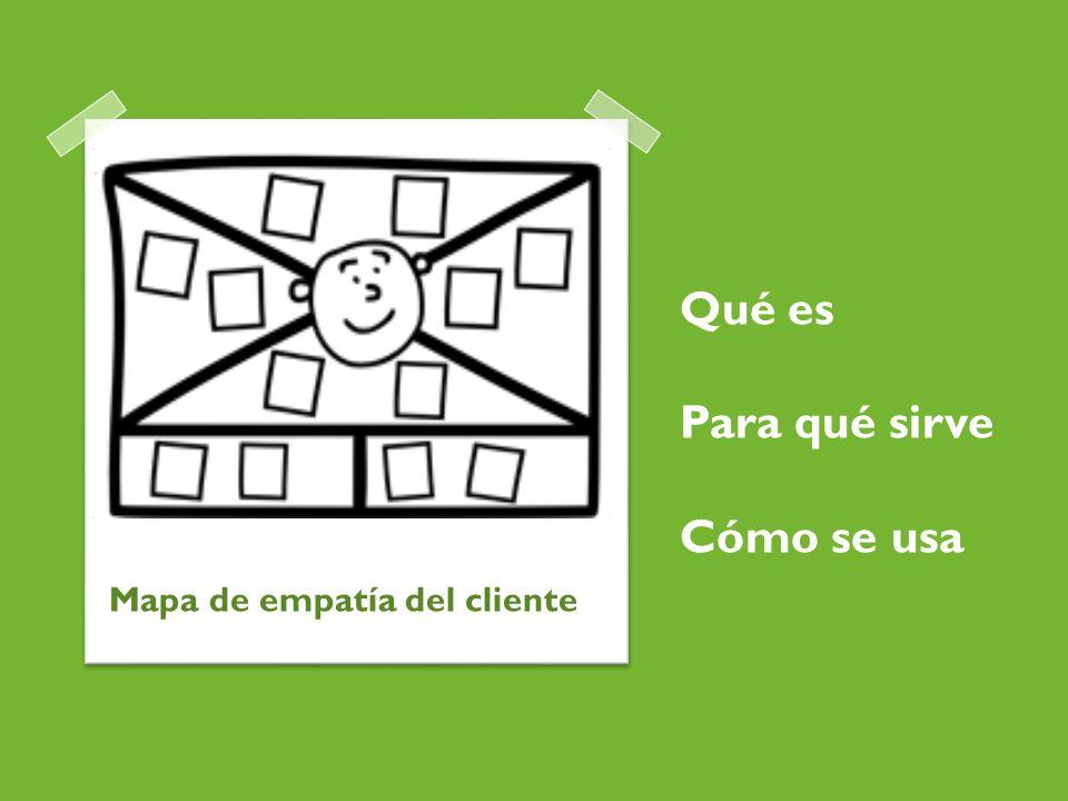 Qué es Para qué sirve Cómo se usa Mapa de empatía del cliente