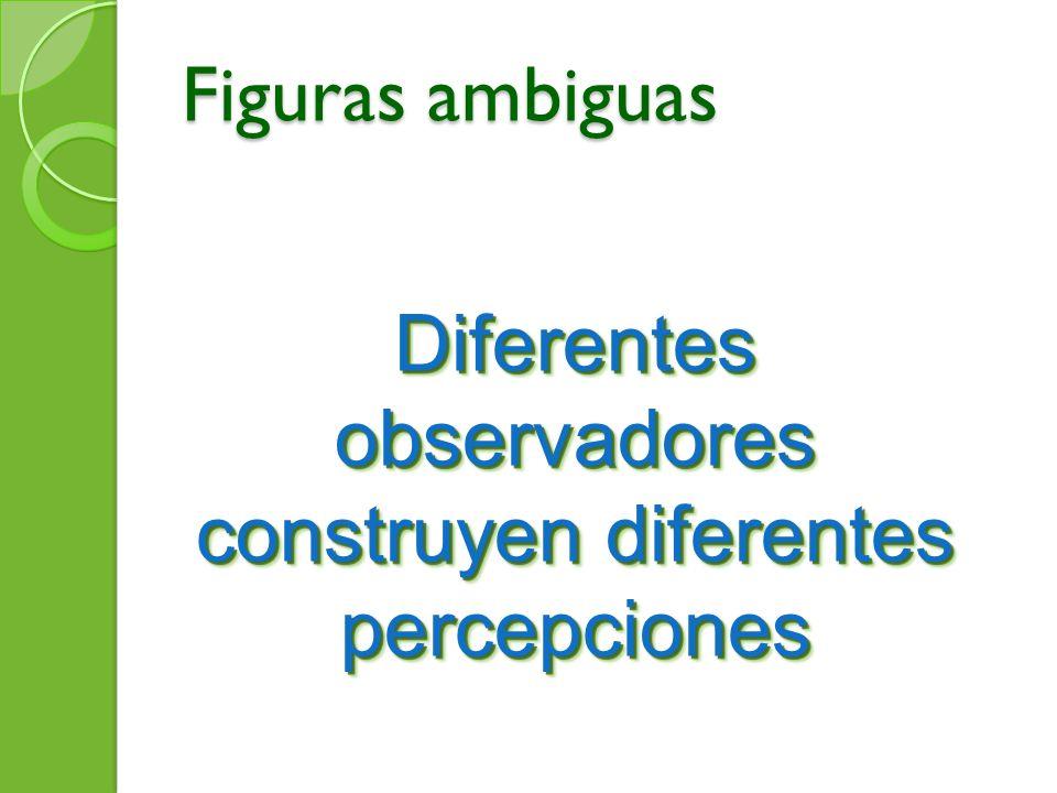 Figuras ambiguas Diferentes observadores construyen diferentes percepciones
