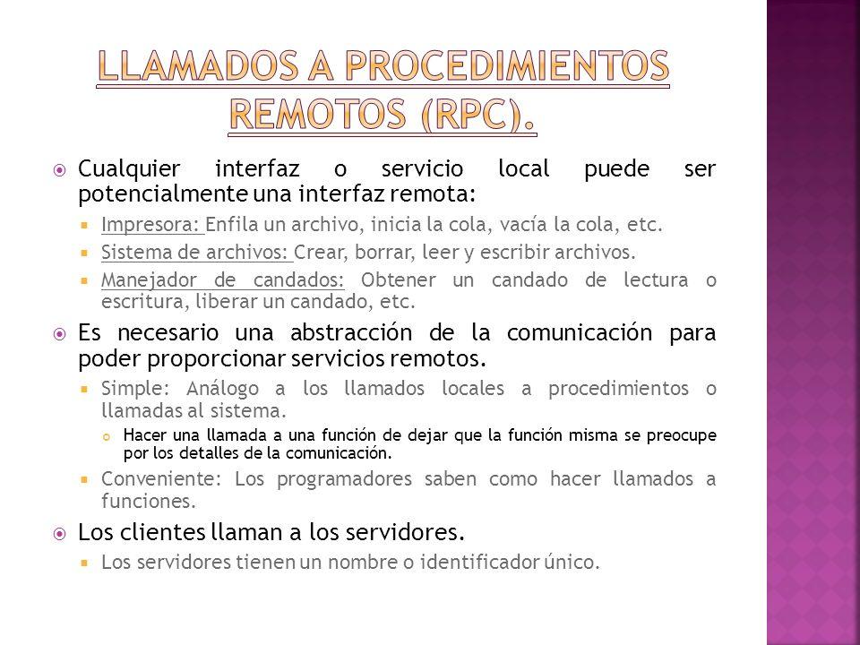 En este código notemos 2 cosas importantes: El handle del cliente, es creado usando la rutina clnt_create() de la librería RPC.